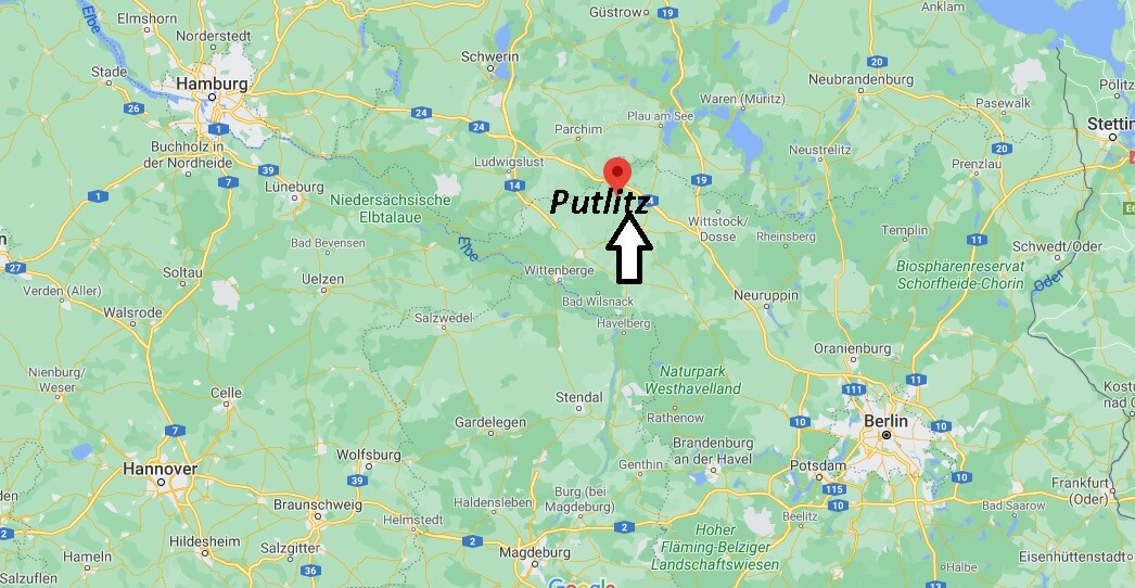 Wo liegt Putlitz - Wo ist Putlitz (Postleitzahl 16949)