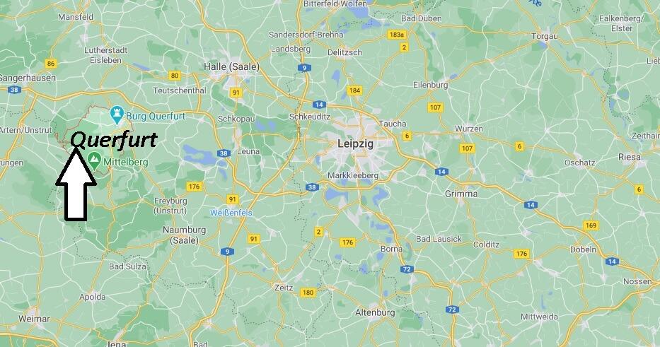 Wo liegt Querfurt -Wo ist Querfurt (Postleitzahl 06268)