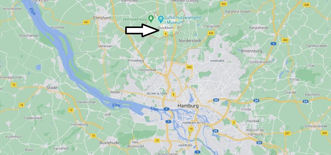 Wo liegt Quickborn- Wo ist Quickborn (Postleitzahl 25451)