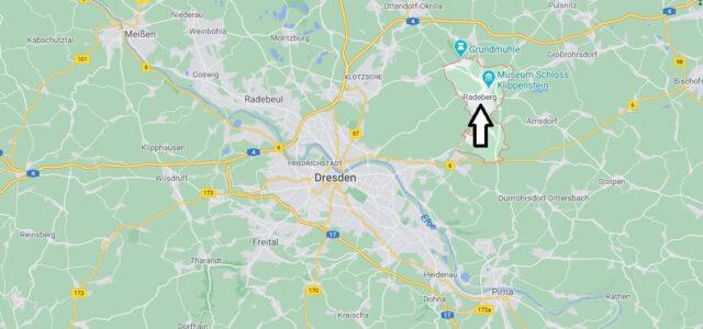 Wo liegt Radeberg- Wo ist Radeberg (Postleitzahl 01454)