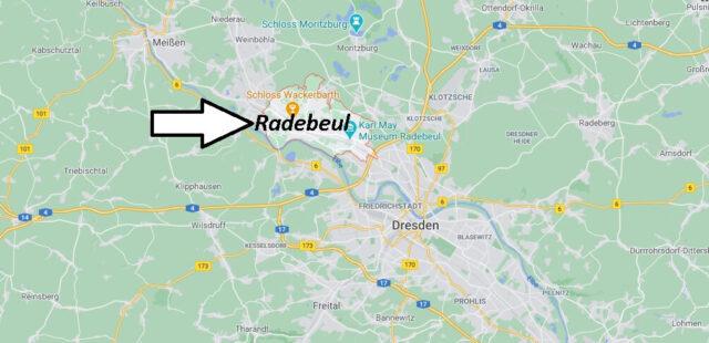 Wo liegt Radebeul -Wo ist Radebeul (Postleitzahl 01445)