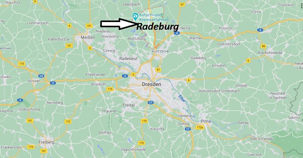 Wo liegt Radeburg - Wo ist Radeburg (Postleitzahl 01471)