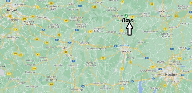 Wo liegt Rain -Wo ist Rain (Postleitzahl 86641)