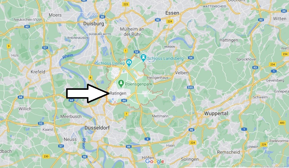 Wo liegt Ratingen - Wo ist Ratingen (Postleitzahl 40472)