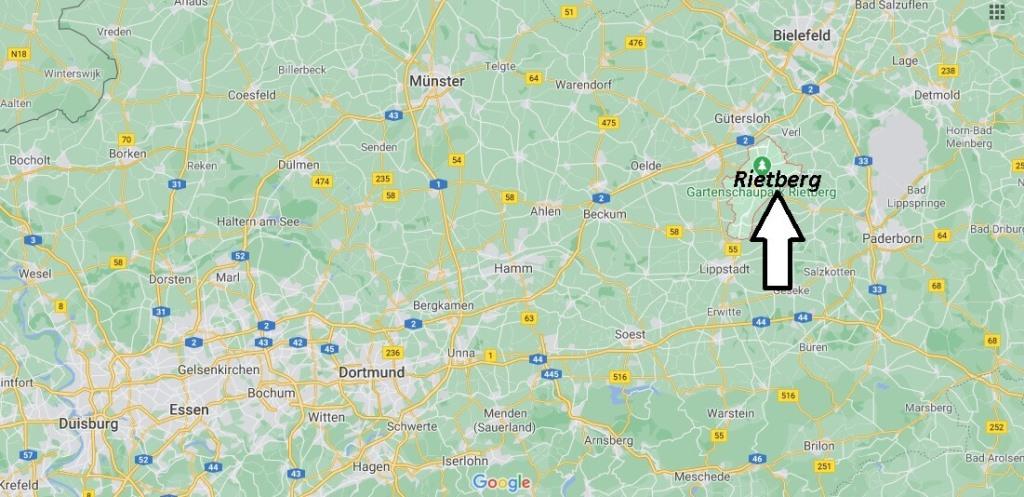 Wo ist Rietberg (Postleitzahl 33397)