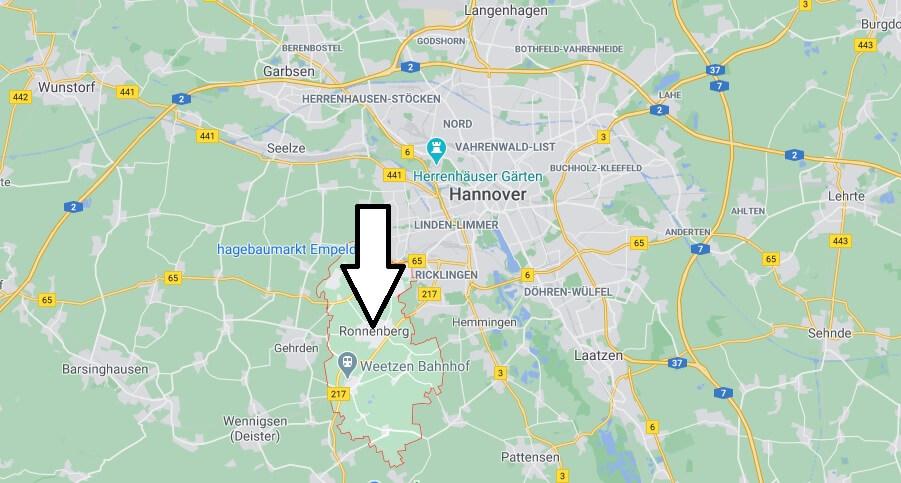 Wo ist Ronnenberg (Postleitzahl 30952)