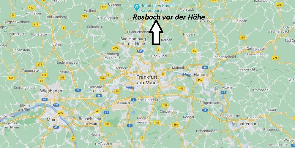 Wo ist Rosbach vor der Höhe (Postleitzahl 61191)