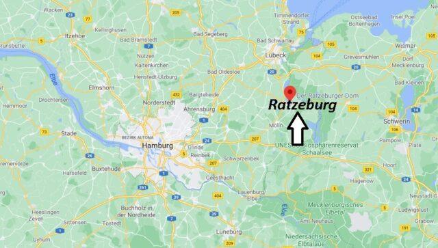 Wo liegt Ratzeburg -Wo ist Ratzeburg (Postleitzahl 23909)