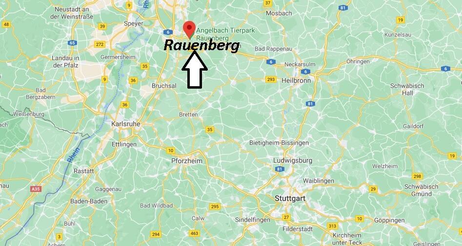 Wo liegt Rauenberg - Wo ist Rauenberg (Postleitzahl 69231)