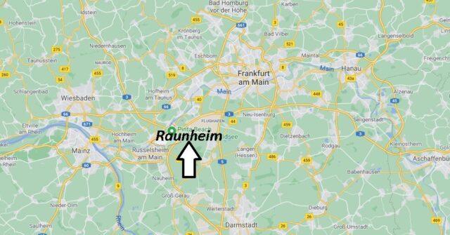 Wo liegt Raunheim - Wo ist Raunheim (Postleitzahl 65479)
