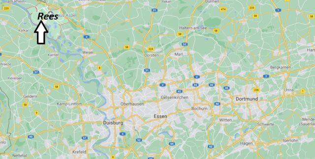 Wo liegt Rees - Wo ist Rees (Postleitzahl 46459)