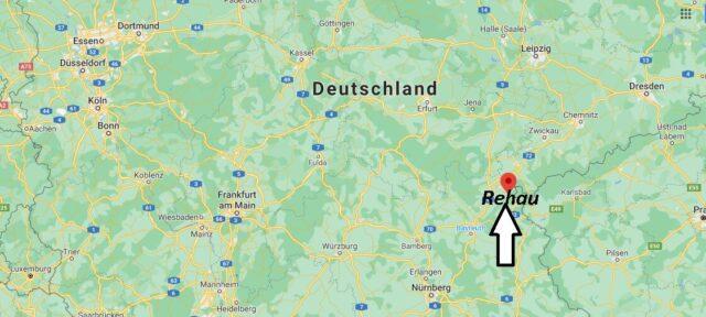 Wo liegt Rehau - Wo ist Rehau (Postleitzahl 95111)