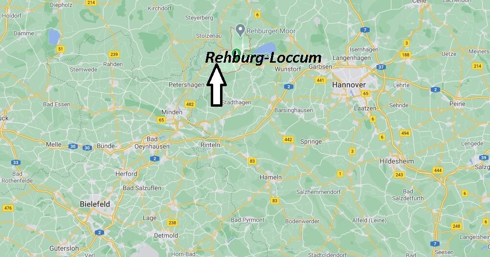 Wo liegt Rehburg-Loccum - Wo ist Rehburg-Loccum (Postleitzahl 31547)