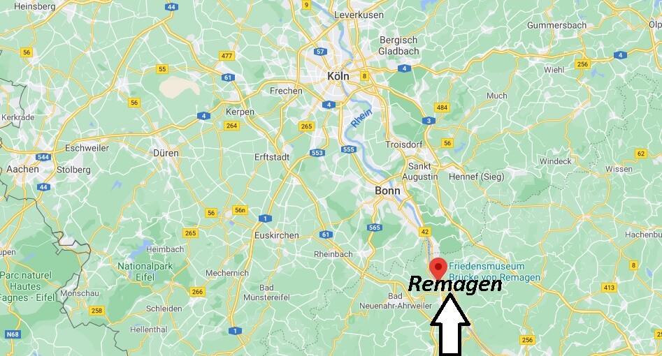 Wo liegt Remagen - Wo ist Remagen (Postleitzahl 53424)