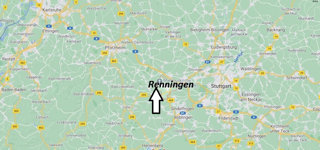 Wo liegt Renningen - Wo ist Renningen (Postleitzahl 71272)