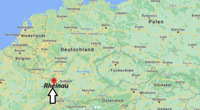 Wo liegt Rheinau - Wo ist Rheinau (Postleitzahl 77866)
