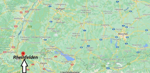 Wo liegt Rheinfelden -Wo ist Rheinfelden (Postleitzahl 79618)