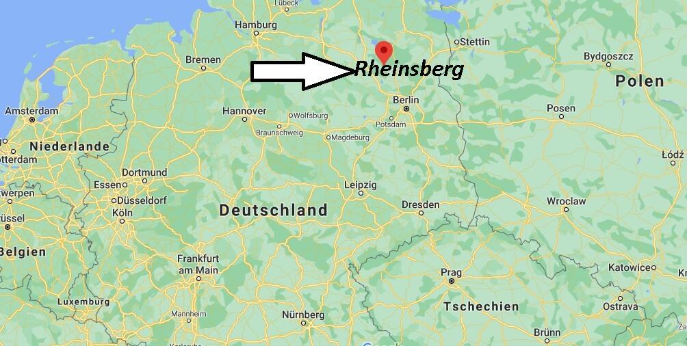 Wo liegt Rheinsberg - Wo ist Rheinsberg (Postleitzahl 16818)