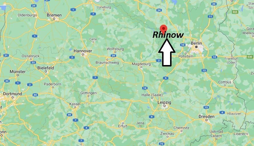 Wo liegt Rhinow - Wo ist Rhinow (Postleitzahl 14728)