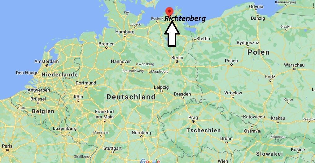 Wo liegt Richtenberg - Wo ist Richtenberg (Postleitzahl 18461)
