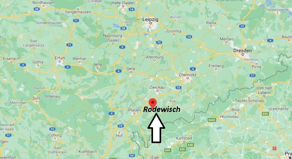 Wo liegt Rodewisch - Wo ist Rodewisch (Postleitzahl 08228)