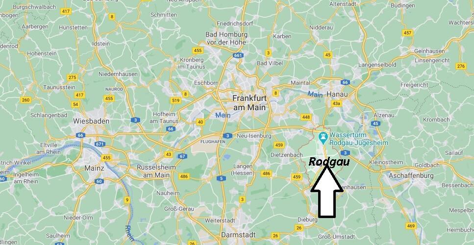 Wo liegt Rodgau - Wo ist Rodgau (Postleitzahl 63110)