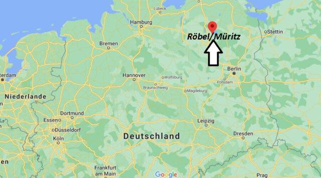 Wo liegt Röbel - Müritz