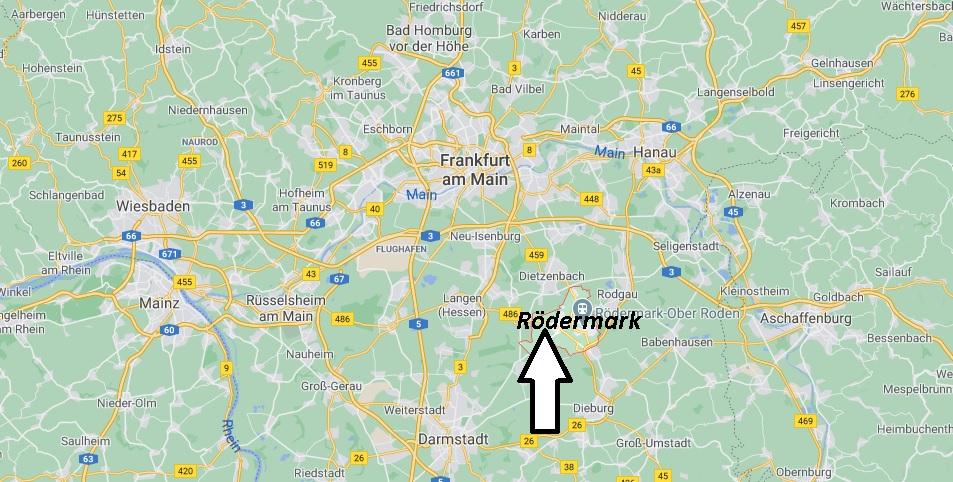 Wo liegt Rödermark - Wo ist Rödermark (Postleitzahl 63322)