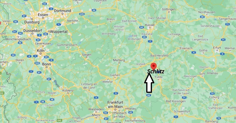 In welchem Bundesland liegt 36110 Schlitz