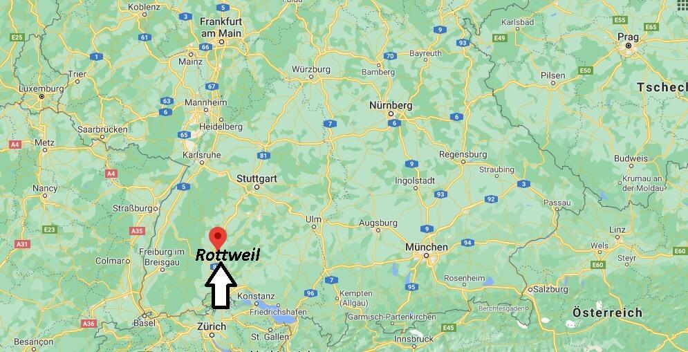 Wo genau liegt Rottweil