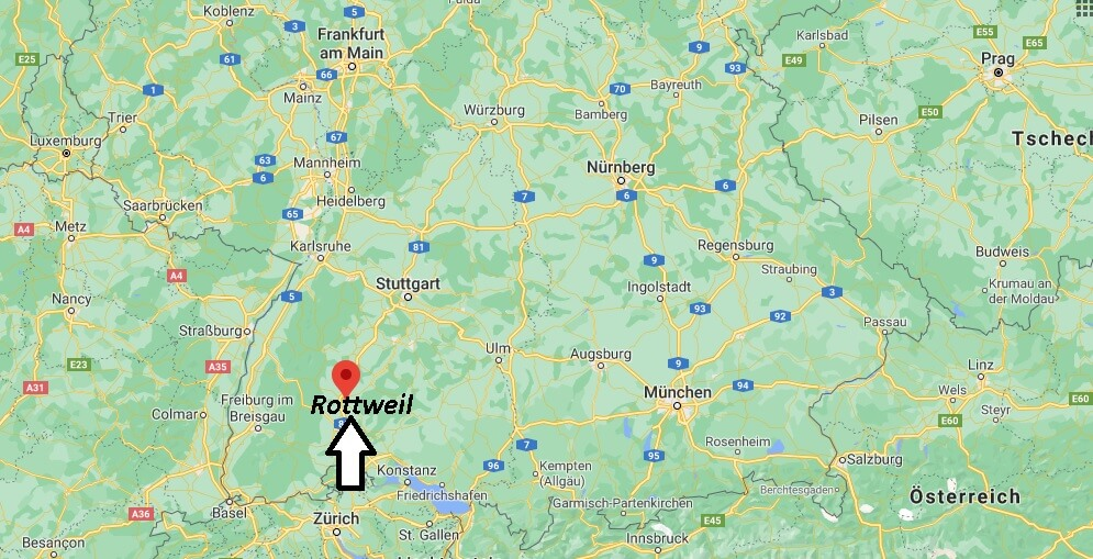 Wo ist Rottweil (Postleitzahl 78628)