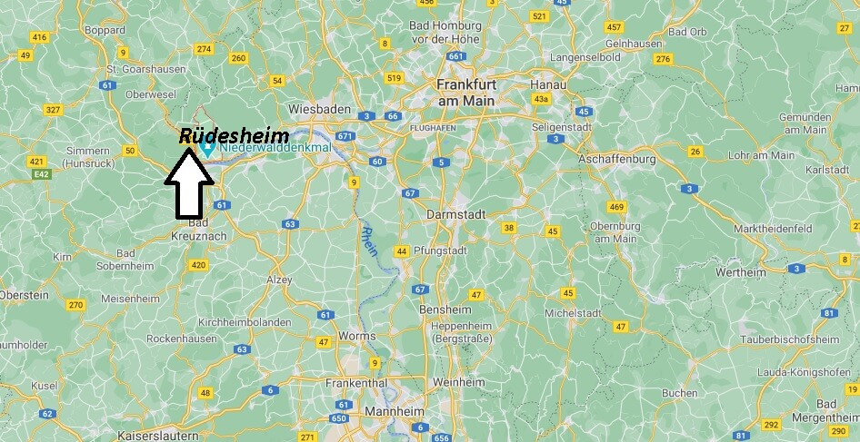 Wo ist Rüdesheim (Postleitzahl 65385)