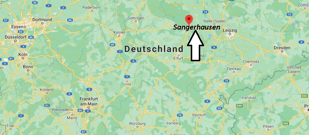 Wo ist Sangerhausen (Postleitzahl 06526)