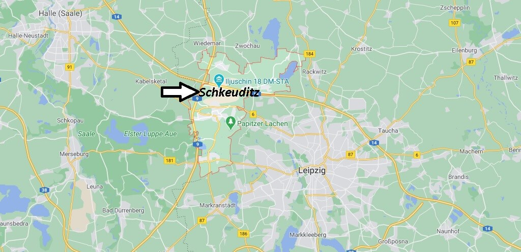 Wo ist Schkeuditz (Postleitzahl 04435)