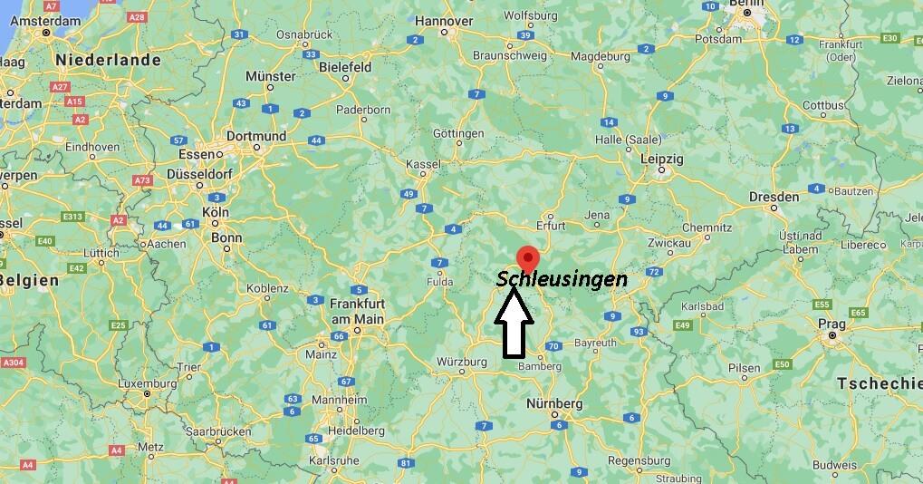 Wo ist Schleusingen (Postleitzahl 98553)