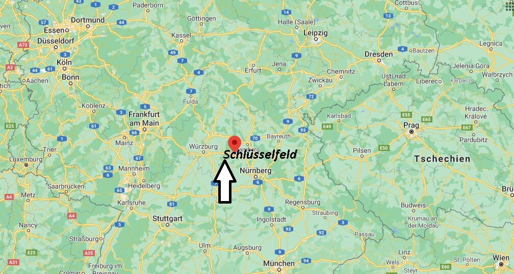 Wo ist Schlüsselfeld (Postleitzahl 96132)