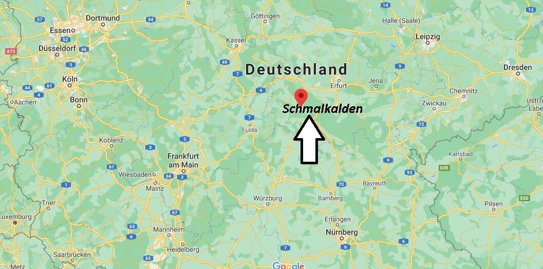 Wo liegt 98574 Schmalkalden