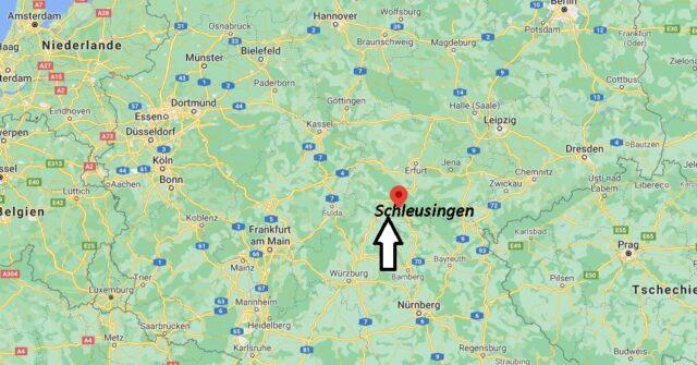 Wo liegt Schleusingen