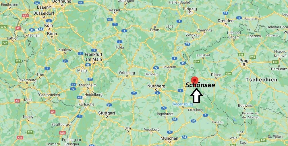 Wo ist Schönsee (Postleitzahl 92539)
