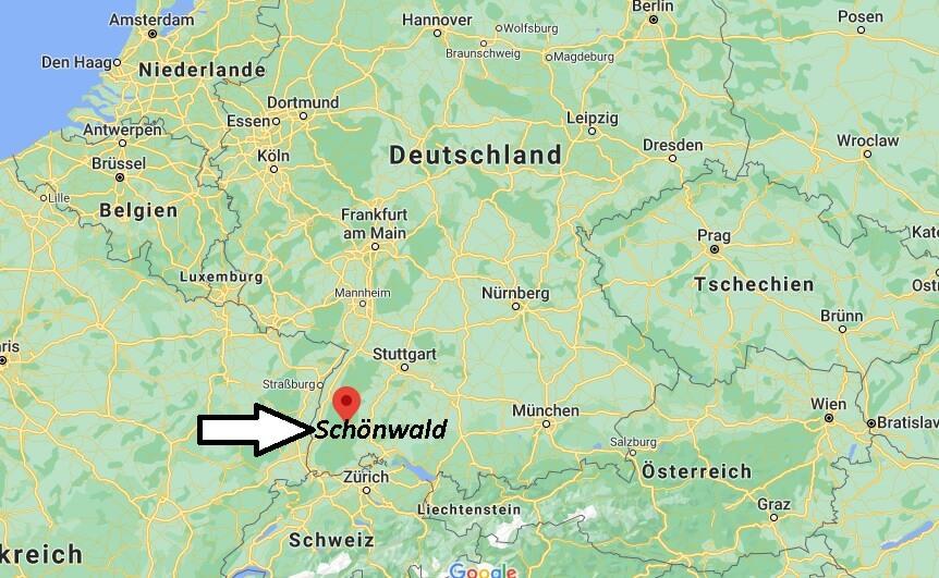 Wo ist Schönwald (Postleitzahl 78141)