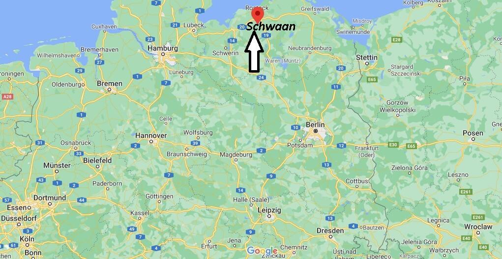 Wo ist Schwaan (Postleitzahl 18258)