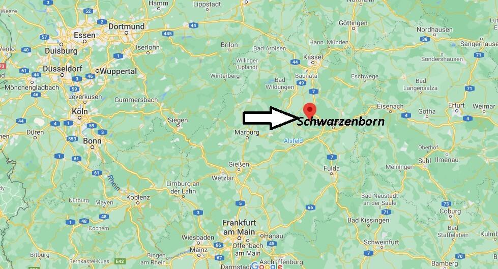 Wo ist Schwarzenborn (Postleitzahl 34639)