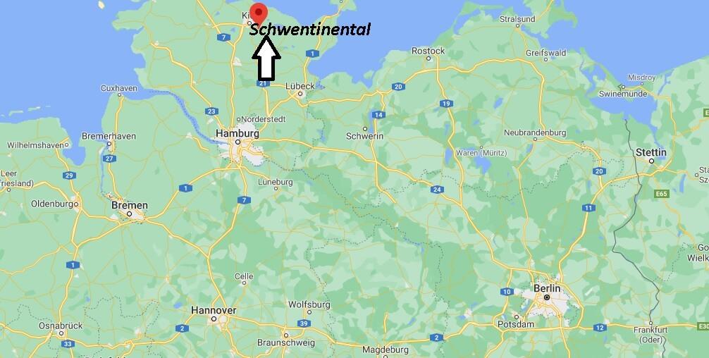 Wo ist Schwentinental (Postleitzahl 24222)