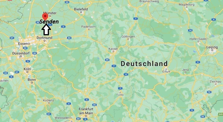 Wo ist Senden (Postleitzahl 48308)