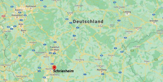Wo liegt Schriesheim