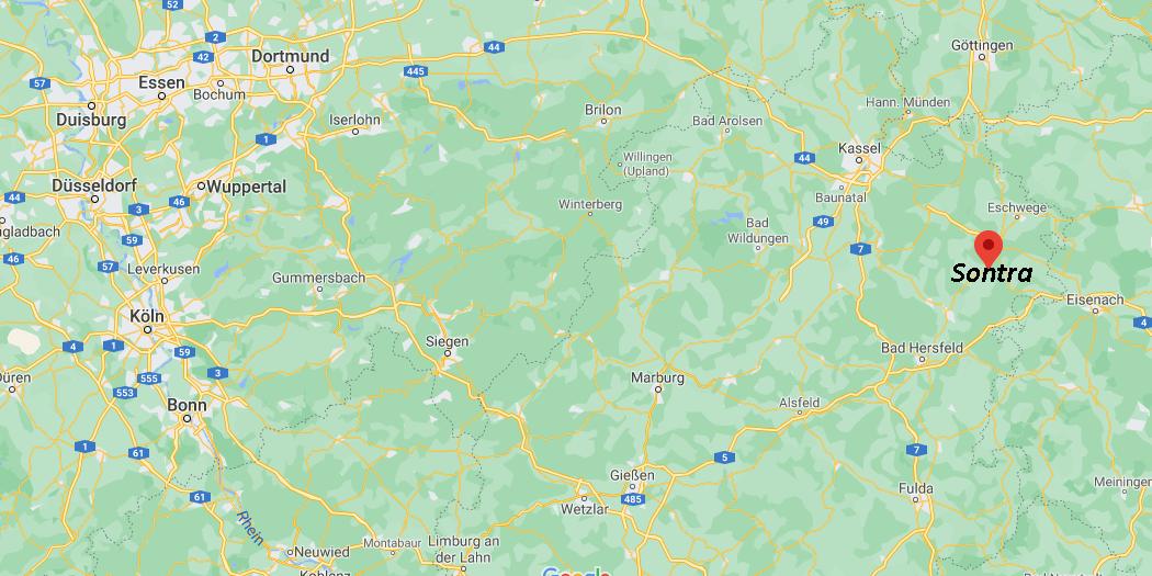 In welchem Bundesland liegt Sontra