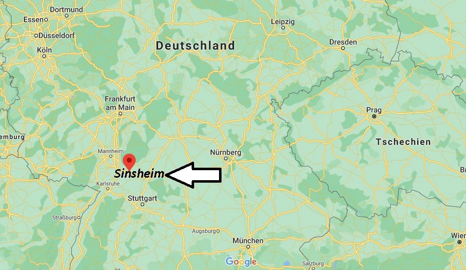 Wo ist Sinsheim (Postleitzahl 74889)
