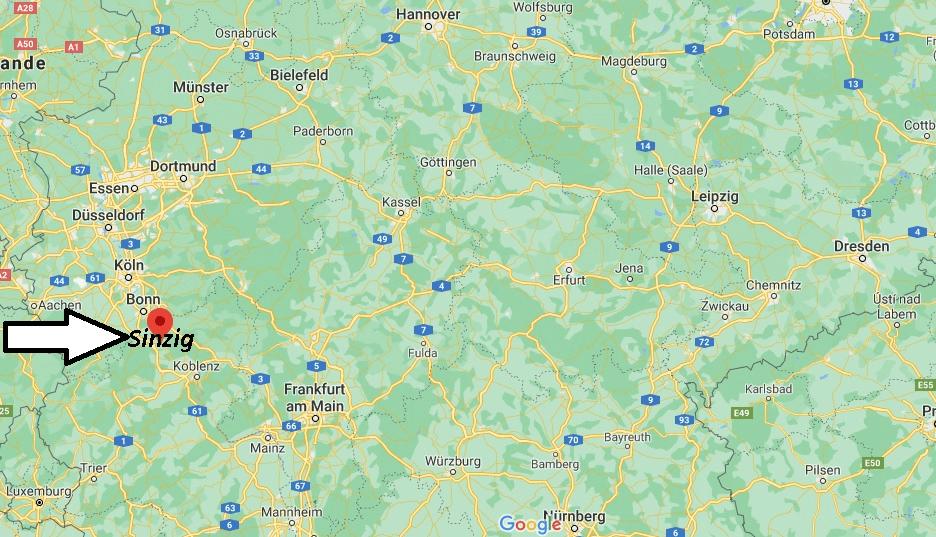 Wo ist Sinzig (Postleitzahl 53489)