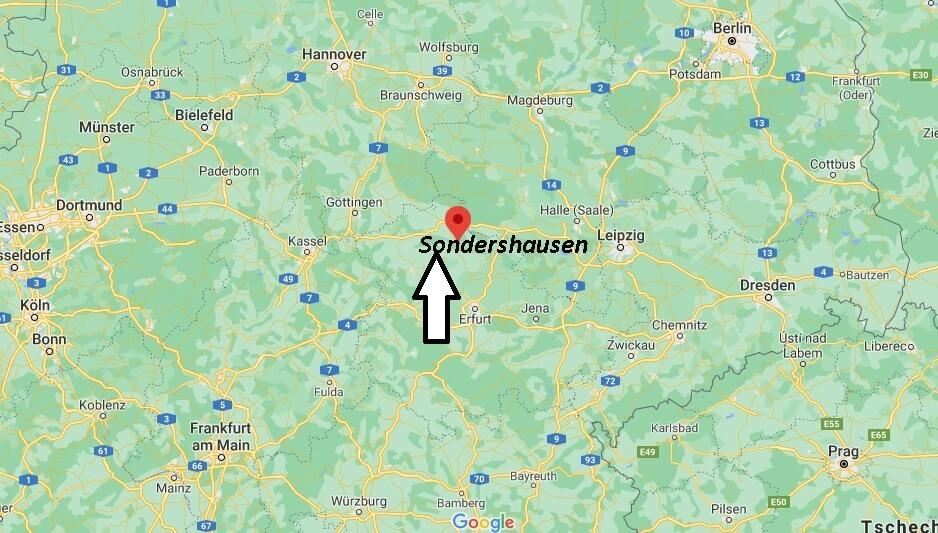 Wo ist Sondershausen (Postleitzahl 99706)