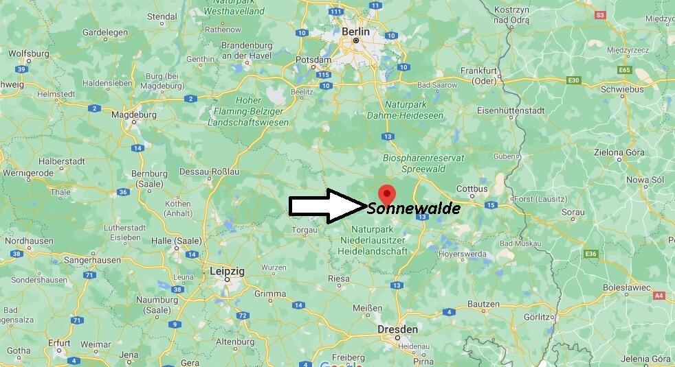 Wo ist Sonnewalde (Postleitzahl 03249)